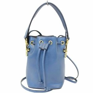 FENDI Bucket Mon Tresor Blue Crossbody Bag Blue